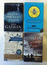 Lot 4 Neil Gaiman Books (PB) Stardust, Anansi Boys, American Gods, Ocean at the