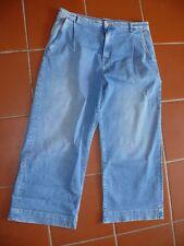 Pepe Jeans Ancho 7/8 Pantalones Vaqueros con Plisado Boot-Cut Laura Azul Medio