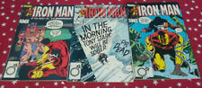 IRON MAN #181, #182 and #183 COPPER AGE MARVEL Comics Vg