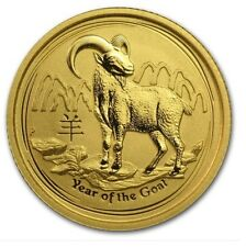 Gold Lunar Year of the Goat Coin Birthday Anniversary Novelty Gift