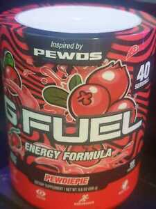 PEWDIEPIE Flavoured G Fuel - 40 servings tub, brand new never opened.