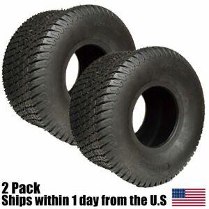 20X10.00-8 4 Ply Tubeless Turf Tire Tractor Riding Mower Pair Set 20x10x8 2PK