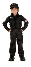 Kids SWAT Police Costume Child Size Medium 8-10