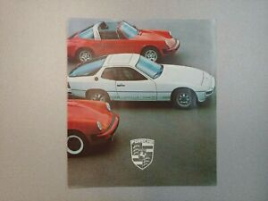 NICE ORIGINAL VINTAGE PORSCHE 911SC 930 924 928 COLOR SALES BROCHURE 1978