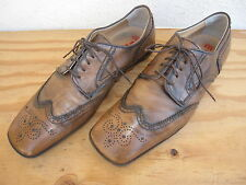 Mens Miu Miu Wing Tip Shoes Sz 8/US9 Distress Brown Leather Made in Italy
