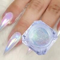 2021 DIY Nail Art Pigment Glitter Mirror Mermaid Chrome Powder Dust Gel Polish @