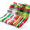 24Yards Mix Lots Merry Christmas Polyester Grosgrain Ribbon Snowflake Claus Beer
