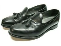 Footjoy Classics Black Leather Tassel Loafer Dress Shoes USA Mens Sz 10.5 EEE