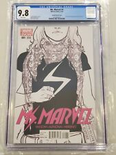 Ms. Marvel #1 Pichelli Sketch Cover CGC 9.8 Kamala Khan becomes Ms. Marvel