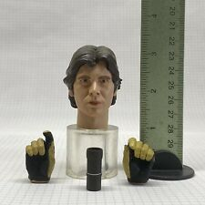 "1/6 Sideshow Star Wars 12"" Figure Tatooine Smuggler Han Solo Head Hands Cup Set"