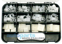 GJ WORKS NYLON CABLE P CLAMPS & WALL MOUNTS GRAB KIT 80 PIECES FREE AUS POSTAGE