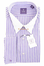 $79 Cromwell & Sons Men's Dress Shirt Liberty Purple Striped 16 1/2 36 37 L