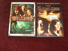 Pirates Of The Caribbean Dead Mans Chest/The Da Vinci Code (DVD) Very Good