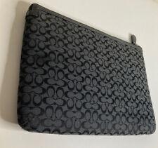 Coach Signature Tablet Sleeve Case Clutch Black Grey Jacquard iPad 61035