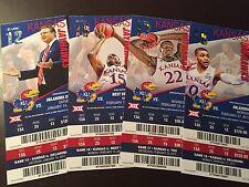 Kansas Jayhawks 2016-17 NCAA basketball ticket stubs - One ticket