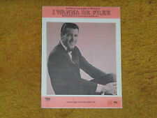 Jimmy Rodgers sheet music I Wanna Be Free (MONKEES song) '68 4 pp. (VG+ shape)