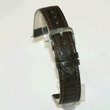 Di Modelo Croco flanc Marrón Oscuro Correa: real Cocodrilo: 18 mm / 20 mm / 22mm (p8)