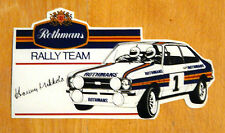 Rothmans Rally Team Escort Mk2 (Hannu Mikkola) Motorsport Sticker Decal
