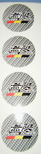 4 X MUGEN ALLOY WHEEL CENTRES STICKERS BADGES CAR 50MM FREE UK POSTAGE