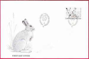 Rabbit White Arctic Mountain Bunny Hare Finland Mint FDC 1997