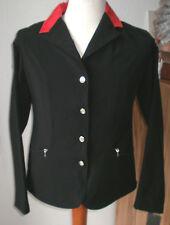 Softshell Damen Turnierjacket, Reitsakko,schwarz,Gr.84, Weber, Kragen rot