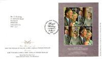 8 APRIL 2005 ROYAL WEDDING MINIATURE SHEET ROYAL MAIL FIRST DAY COVER BUREAU SHS