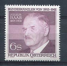 AUTRICHE 1981, timbre 1519, JULIUS RAAB, HOMME POLITIQUE, neuf**