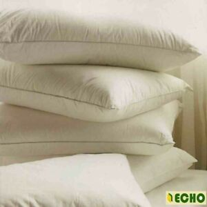 """2 Luxury Duck Feather and Down Pillows Size 29""""x 19"""" 100% Cotton Cambric Cover"""