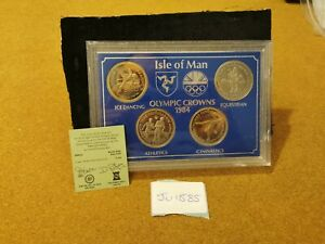 Isle of Man, Proof 1984 Crown Coin Set (Olympics), JU1585
