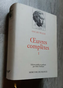 Oscar WILDE - Oeuvres Complètes tome 1