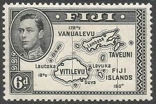 Mint Hinged Single Fijian Stamps (Pre-1967)