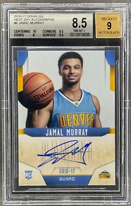 2016-17 DONRUSS BASKETBALL JAMAL MURRAY ROOKIE NEXT DAY AUTO BGS 8.5 RC [HD]