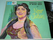 NOOR JAHAN MEMORABLE SONGS OF MELODY QUEEN Bollywood India OST 1st ODEON 1965 LP