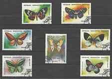 Timbres Papillons Madagascar 1068/74 o lot 8038