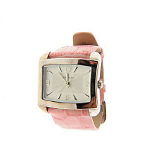 """Anne Klein Square Watch Pink Leather Band 1.1 x 6-7.75"""""""