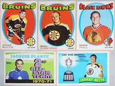 1971-72 -O-Pee-Chee- Vintage OPC NHL Hockey Cards - You Pick/Choose - Finish Set