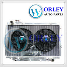 3 row Aluminum Radiator and Fan for TOYOTA Landcruiser HDJ80 HZJ80 FJ80 FZJ80 AT