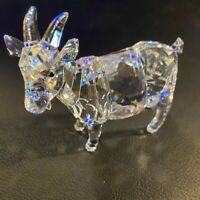 NEW IN BOX Swarovski Crystal Figurine Goat 97351 SIGNED