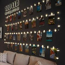 Litogo 100 LED Photo Clip String Fairy Lights, 10M