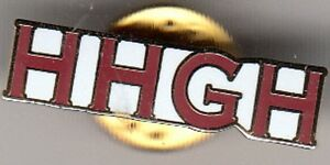 """Hearts """" HHGH """" - lapel badge butterfly fitting"""