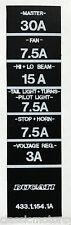 DUCATI 748 916 996 Calcomanía de restauración de Tapa de Caja de Fusible