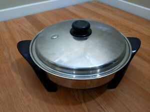 Saladmaster 12 in Electric Oil Core Skillet with Cover Preowned Cookware NO CORD