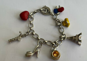 Genuine Links Of London 925 Silver Charm Bracelet & Charms 7.5 Inch 37g