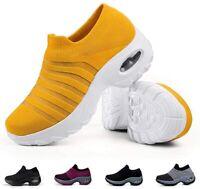 Slow Man Women's Shoes Slip On Running Sneaker Fabric Low Top, Orange, Size 11.0