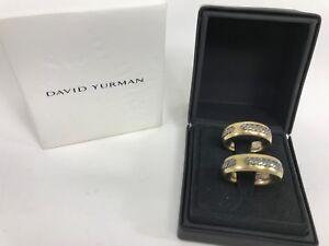 David Yurman - Set of two 18K Yellow Gold 925 Sterling Silver Rope Wedding Rings