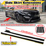86.6'' Yellow line Side Skirt Extension For BMW F30 F80 M3 F82 M4 E90 E92 E90 X5