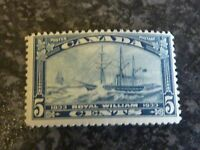 CANADA POSTAGE STAMP SG331 5C BLUE VERY LIGHTLY MOUNTED MINT