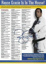 Royce Gracie Signed 8x11 Magazine Ad Photo BAS Beckett COA UFC Pride Jiu-Jitsu 2
