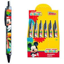 DISNEY Mickey Mouse FAN penna a sfera con miniera BLU SCUOLA PENNA BIRO Micky