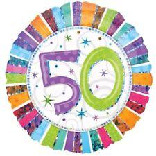 Anagram radiante Compleanno Età 50 Foglio Palloncino